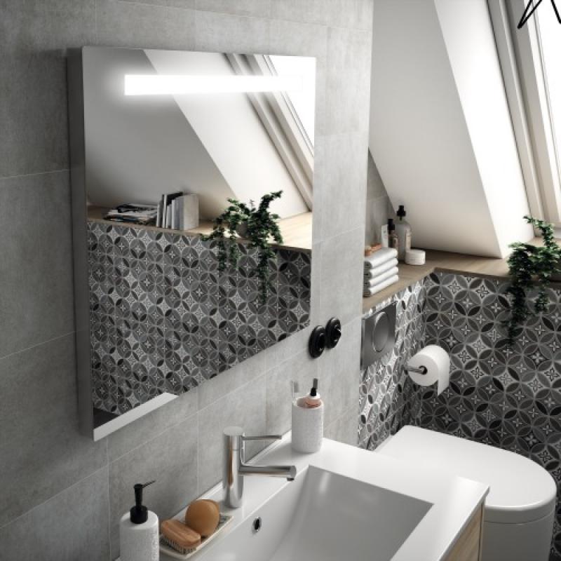Miroir de salle de bain clairant sunset avec syst me anti bu e legallais - Miroir salle de bain eclairant ...